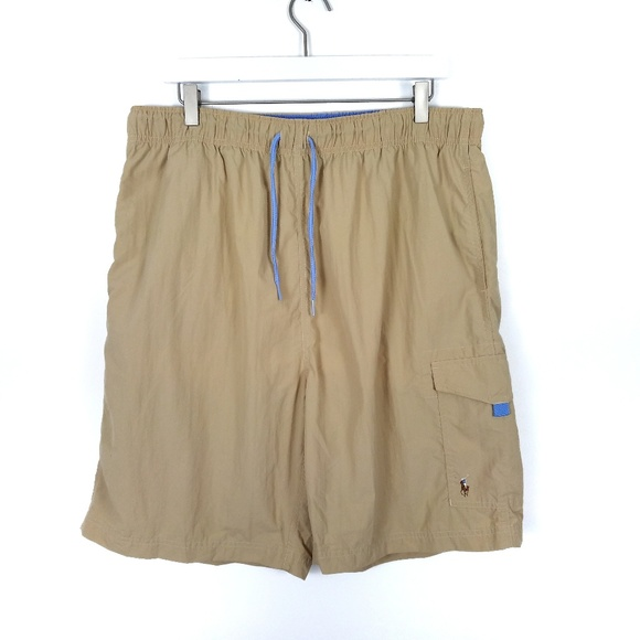 Polo by Ralph Lauren Other - POLO RALPH LAUREN Tan Swim Trunks Swim Shorts XL